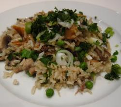 Brown And Wild Rice Pilaf With Peas