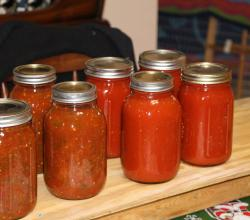 Canning... Salsa And Sauce