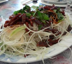 Jerky With Papaya Salad