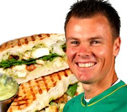 Johan Botha with Chicken Panini