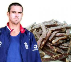 Kevin Pieterson with Biltong