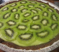 key lime pie with kiwi topping