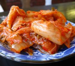 Kimchi on Plate