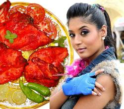 Kritika Kamra with Tandoori Chicken