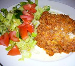 Lasagne with Vegetable Salad