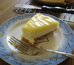 Lemon Cheesecake with Hazelnut Crust