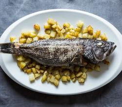 Roasted Fish With Rosemary Potatoes