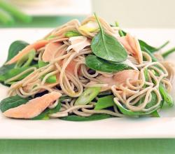 Smoked Salmon, Soba & Asian Greens