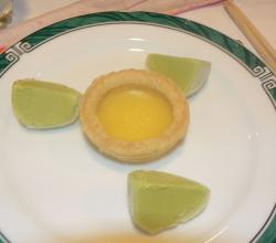Maccha mochi ice cream and egg custard tart