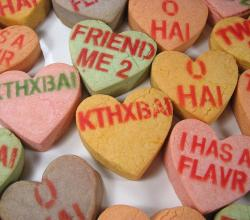 Making message heart shortbread cookies