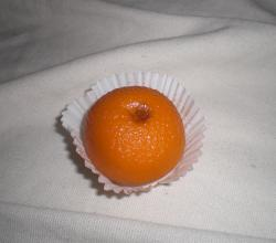 Marzipan as a mandarin orange