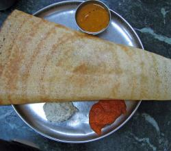Masala Dosa with Chatni