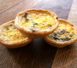 Mini Mushroom and Cheddar Quiches