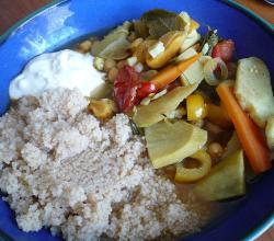 Moroccan vegetable food