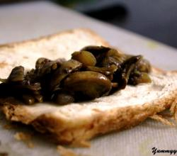 Mushroom Filling On Bread