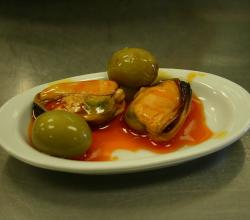 Mussels with Pickled Olives