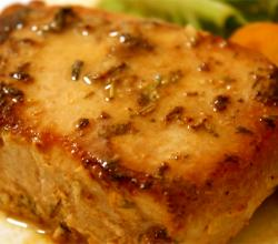 Mustard Glazed Pork Chops