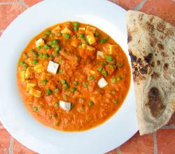 Mutter Paneer with chapati