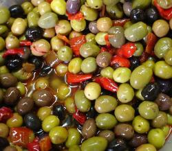 Olives in a bag