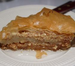 One piece of baklava
