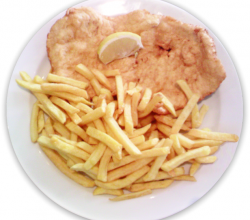 Pariser Schnitzel mit Pommes