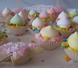 Party cupcakes with meringue