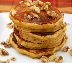 Orange Pecan Pancakes