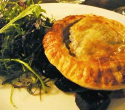 Pigeon Pie with Beetroot