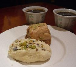 Pistachio Baklava and Coffee