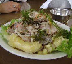 plate of Mixed Ceviche