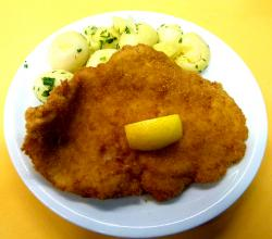 Pork schnitzel with  Fried Potato