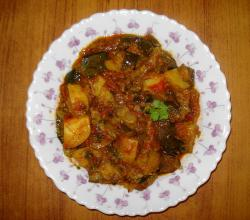 Potato with Brinjal