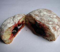 Powdered Sugar Jelly Doughnut