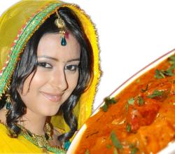 Pratyusha Banerjee with Chicken Butter Masala