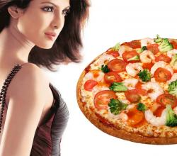 Priyanka Chopra Loves Pizza