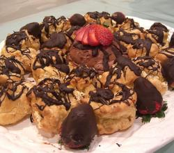 Profiteroles and Chocolate Mousse