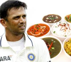 Rahul Dravid with Indian Food