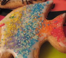 Rainbow fish sugar cookie