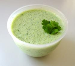 Raita with cucumber and mint