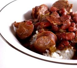Hot Dogs With Red Beans And Rice