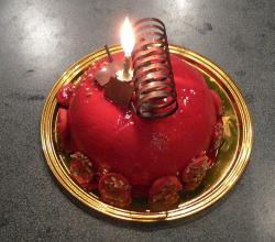 Red Birthday Cake
