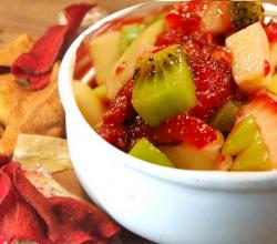 Reduced Sugar Fruit Salsa And Cinnamon Chips