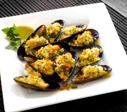 Rice & Nuts Stuffed Mussels