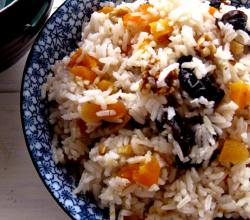 Rice  Walnut and Apricot Salad