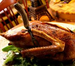 Roast Goose With Baked Apple