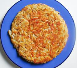 Roesti with Parsley Garnish
