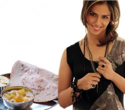 Saina Nehwal With Roti Sabzi And Dahi