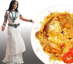 Sakshi Tanwar with Biryani