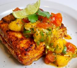 Salmon Cutlets With Fruit Salsa
