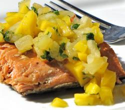 Salmon Cutlets with Pineapple Salsa